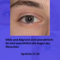 Scheol und Abgrund sind unersättlich: so sind unersättlich die Augen des Menschen ( Sprüche 27,20 )