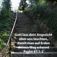Er lasse sein Angesicht leuchten über uns, dass man erkenne deinen Weg ( Psalm 67:1-2 )