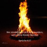 Sollte jemand Feuer in seinen Busen nehmen, ohne dass seine Kleider verbrennten? ( Sprüche 6,27 )